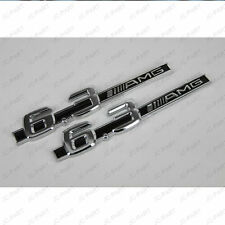 3D Metal Silver 6.3 AMG Logo Rally Racing Front Rear Emblem Badge Sticker Decal