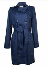 $270 NWT Tommy Hilfiger Women's Size X-Small Navy Blue Denim Belted Trench Coat