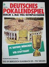 Orig.PRG   DFB Pokal   1985/86   FINALE   BAYERN MÜNCHEN - VfB STUTTGART !! TOP