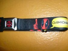 MARVEL DEADPOOL CHIMICHANGAS POLYESTER BUCKLE DOWN SEATBELT BELT ADJUSTABLE OSFM