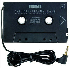 RCA Stereo Cassette Wired Playpack Adapter Black 3.5mm Plug New Free US Shipping