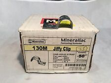 "Box of 25 Minerallac 130M Jiffy Clips One Hole Strap for 1/2"" Tubing"