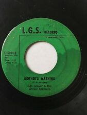 "RARE OHIO GOSPEL SOUL 45/ E.B. GLOVER & GLOVER SPECIALS ""MOTHER'S...""   HEAR!"