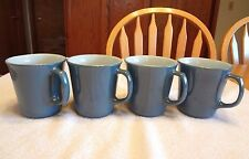 4 Pyrex Corelle INDIGO MUGS Cups SLATE BLUE Corning GLASS Dishes DINNERWARE EXC