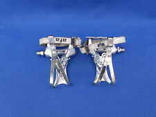 Vintage Shimano 600 pedals PD-6207 with toe clips and straps