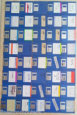 40x FLOPPY DISK SET w/Amiga software. DS-DD floppies. Works also Atari ST-E/Mac
