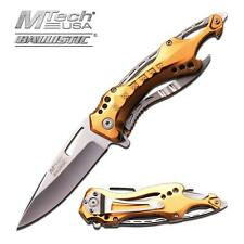 Mtech Ballistic Series Gold Spring Assist Assisted Knife Knives #A705SGD