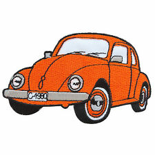 Orange VW Bug Buggy Volkswagen Car Camper Van Classic Hippie Iron on Patch MC025