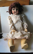 "Antique Queen Louise Doll/Head Size 10/Composition Body/26""/Needs some TLC"