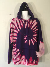 Tie Dye Hoody hooded Hoodie top festival music 2XL XXL nineties retro