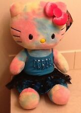 "Build-A-Bear Hello Kitty Watercolor 18"" Plush Pastel Tie-Dye Top, Skirt, And Bow"