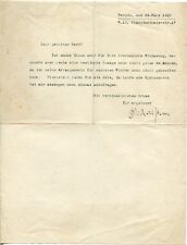 RICHARD STRAUSS - orig. Autograph - Brief, Berlin, 1910 - typed letter signed