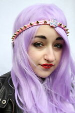 Or rose plait Aztèque Spike Stud Clous front head band Kawaii Pastel Goth