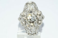 $24,500 2.81Ct Antique Art Deco Natural Diamond Ring Beautiful Design Platinum