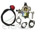 CARBURETOR FOR HONDA GX340 11HP W/ PRIMER FUEL LINE & GASKETS CARB KIT