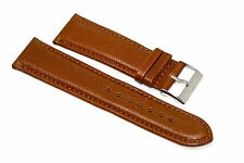 GORGEOUS 24MM BROWN STITCHED GENUINE LEATHER STRAP WATCH BAND FOR NIXON