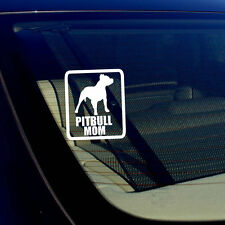 """Pitbull Mom Car Window BumperDecal Sticker I Love My Rescue Dog  4"""" Inches #Rect"""