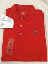Lacoste SPORT Men's Polo Shirt New With Tags Etna Red Orange Size EU 6 US L