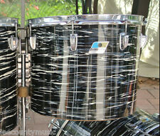 "RARE 1971 LUDWIG BLACK OYSTER PEARL 15"" CONCERT TOM for YOUR DRUM SET! #T517"