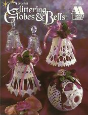 Glittering Globes & Bells Crochet Christmas Ornaments Patterns Annie's Attic NEW