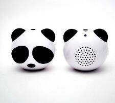Cute Panda Mini Portable Speaker for iPhone iPad iPod Touch/Nano Cellphone Black
