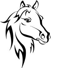 Horse Heads #2  vinyl wall decal