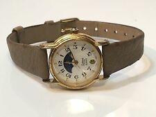 VINTAGE Galaxie Elgin LADIES MOON PHASE QUARTZ WATCH(EL370)