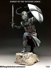 Knight. Teutonic order, Tin toy soldier 75 mm, figurine, sculpture HAND PAINTED