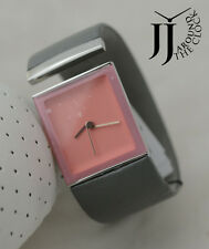 NEW RARE PHILIPPE STARCK TAILGATE GRAY LEATHER PINK DIAL PH7001