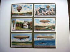 1900's Trade Card Set - Liebig's Fleisch-Extract - Airships *