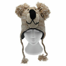 Fun Koala Handmade Winter Woollen Animal Hat Fleece Lining One Size, UNISEX