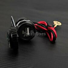Motorcycle DC 12V Black USB Charger for Harley Police CVO Screamin Eagle