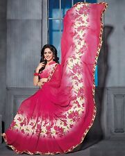 Stylist Multi Color Printed Chiffon Saree with a Blouse D.No RK3005