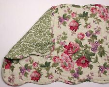 "Great Finds GINA Floral Quilted Cotton 12"" x 42"" Table Runner"