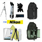 "LIGHTWEIGHT 50"" PHOTO TRIPOD + BACKPACK CARRYING CASE FOR NIKON D3100 D3200 D90"