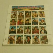 US Stamps sheet of 20  Legends of the West  MNH 1995