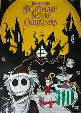 Tim Burton NIGHTMARE BEFORE CHRISTMAS original Kino Plakat A1 gerollt