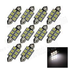 10X White 36MM 6 5050 Festoon Dome Map Interior LED Light Lamp Roof Bulb I104