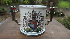 1972 Queen's Silver Wedding Large Paragon China Loving Cup Lion Handles 750 made