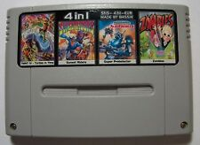 TMNT + Sunset Riders + Super Probotector + Zombies - 4in1 Game Cart Snes PAL/EU