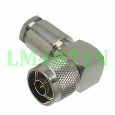 1x Connector N male plug 90° clamp RG8 RG213 LMR400 RG214 cable right angle