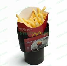 Black Car Mobile Phone Fry Fries Cup Holder Box Container Organizer Stand Mount