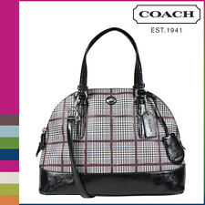 NWT COACH PEYTON GLEN PLAID CORA DOMES SATCHEL CROSSBODY HANDBAG PURSE F32841