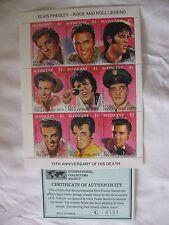 ELVIS PRESLEY-1977 Comm Stamps Set of 9 $1 St.Vincent Islands 15th yr Anniv.