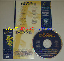 CD DONNE DONNE COMPILATION 1996 POOH TESSUTO LITTLE RICHARD MAL (c27) dvd mc lp