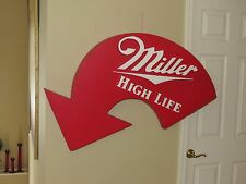VINTAGE  1960s-70s LARGE MILLER HIGH LIFE BEER STYROFOAM ARROW SIGN - RARE
