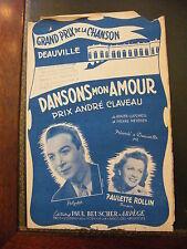 Partition Dansons mon amour Lucchési Paulette Rollin GP de la Chanson Deauville