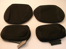 Ford F150 2010 4 OEM Head Rest Cloth Covers 2 Front 2 Back Black 10