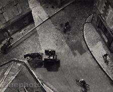 1930/72 Vintage 11x14 CARREFOUR Blois Street Horses Cityscape Art ANDRE KERTESZ