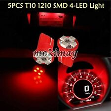 5 PCS High Power 4-LED Wedge T10 Instrument Panel Cluster Gauge Dash Light Red